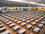 इंदौर में खुले मैदान को 5 दिन में बनाया अस्थायी कोविड सेंटर, पहले चरण में 500 बिस्तर लगाए; कुल 2000 बेड लगेंगे इंदौर,Indore - Dainik Bhaskar