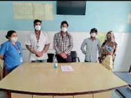 जनाना अस्पताल में 7 माह की बालिका को मिली नई जिंदगी, 950 से बढ़कर 1500 ग्राम हो गया वजन|भरतपुर,Bharatpur - Dainik Bhaskar