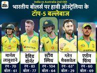 ऑस्ट्रेलियाई टॉप-5 बल्लेबाजों ने 50+ रन बनाए; भारत ने 7 बॉलर्स लगाए, 4 ने 70 से ज्यादा रन लुटाए|क्रिकेट,Cricket - Dainik Bhaskar