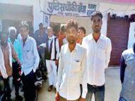 सरपंच पुत्र ने दोस्त के साथ मिलकर किया हवाई फायर, फैलाई दहशत|छतरपुर (मध्य प्रदेश),Chhatarpur (MP) - Dainik Bhaskar