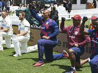 विलियम्सन, लाथम की पारी से कीवी टीम मजबूत, दोनों टीमें ब्लैक लाइव्स मैटर के सपोर्ट में घुटनों पर बैठीं|क्रिकेट,Cricket - Dainik Bhaskar