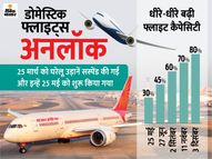 घरेलू उड़ानों में 10% का इजाफा, एविएशन मिनिस्ट्री ने अब 80% फ्लाइट्स की मंजूरी दी|देश,National - Dainik Bhaskar