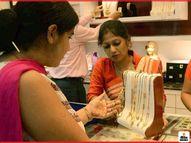 सोने की कीमतें 420 रुपए बढ़कर 49,367 रुपए प्रति 10 ग्राम तक पहुंची; चांदी 785 रुपए बढ़कर 64,110 रुपए प्रति किग्रा हुई मार्केट,Market - Dainik Bhaskar