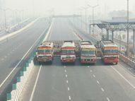 दिल्ली-गाजीपुर बॉर्डर पर पुलिस ने बसें खड़ी कर रास्ता रोका, किसान भी सड़कों पर जमे|देश,National - Dainik Bhaskar