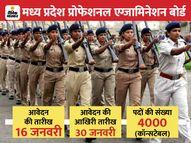 मध्य प्रदेश पुलिस में कॉन्सटेबल भर्ती परीक्षा के लिए आज से शुरू आवेदन, 4000 पदों के लिए 30 जनवरी तक करें अप्लाई|करिअर,Career - Dainik Bhaskar