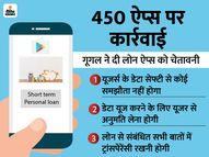 गूगल ने 450 लोन ऐप्स प्ले स्टोर से हटाए, कहा- ये सेफ्टी पॉलिसी का उल्लंघन करते हैं|टेक & ऑटो,Tech & Auto - Dainik Bhaskar