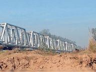 घग्गर नदी के तट अवैध माइनिंग से खाली, तटबंध बनाने की जरूरत|जीरकपुर,Zirakpur - Dainik Bhaskar