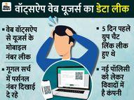 गूगल सर्च में मिल रहे यूजर्स के पर्सनल मोबाइल नंबर, इनमें एक भी बिजनेस यूजर नहीं|टेक,Tech - Dainik Bhaskar