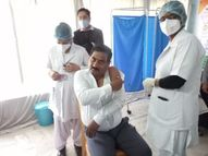 कोविन पोर्टल की ओर से जारी लिस्ट में नाम नहीं होने के बाद भी अधीक्षक और HOD ने लिया टीका|वैक्सीन ट्रैकर,Coronavirus - Dainik Bhaskar