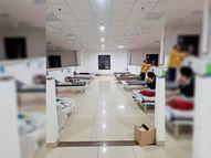 आइसोलेशन वार्ड में 83% बेड खाली आईसीयू में भी अब केवल 50% मरीज|रतलाम,Ratlam - Dainik Bhaskar