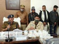 पुलिस की गोली से तीन बदमाश घाायल, 90 लाख रु. की डकैती में थे शामिल; एक सिपाही भी जख्मी इलाहाबाद,Allahabad - Dainik Bhaskar