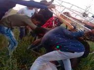 पैराग्लाइडिंग के दौरान घायल पक्षी की तरह 150 फीट ऊंचाई से जमीन पर गिरे, दो की मौत|खंडवा,Khandwa - Dainik Bhaskar