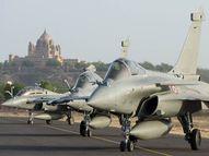 युद्धाभ्यास के पहले दिन जोधपुर पहुंचे दोनों देशों के फाइटर जेट, डमी मिसाइल से राफेल एक-दूसरे पर करेंगे हमला|जोधपुर,Jodhpur - Dainik Bhaskar