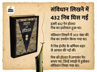 प्रेम बिहारी नारायण रायजादा ने हाथ से लिखा पूरा संविधान, पांडुलिपि दो खास नाइट्रोजन चैंबर में सुरक्षित, जानिए और भी दिलचस्प बातें|देश,National - Dainik Bhaskar