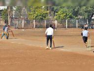 टूर्नामेंट की रोचक शुरुआत, पहले मैच में टकनेरा ने म्याना को एक रन से हराया|गुना,Guna - Dainik Bhaskar