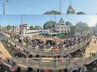 स्वास्थ्य विभाग की गाड़ी से बिगड़ी एफओबी पर चाल, 1 घंटे ट्रैफिक जाम|भोपाल,Bhopal - Dainik Bhaskar