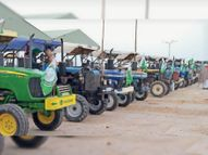 400 ट्रैक्टरों पर 2500 किसानों का काफिला दिल्ली रवाना|फाजिल्का,Fazilka - Dainik Bhaskar
