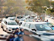 3 घंटे तक शहर में चली ट्रैक्टर रैली से चौराहों पर ट्रैफिक बाधित, लोग परेशान|पंचकूला,Panchkula - Dainik Bhaskar