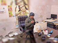 अनाज मंडी में पेस्टीसाइड की दुकान से ढाई क्विंटल की तिजोरी उखाड़कर ले गए बदमाश|करनाल,Karnal - Dainik Bhaskar
