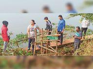 दलपत सागर की सफाई कर कहा- इसे संवारने हमेशा आगे रहेंगे|जगदलपुर,Jagdalpur - Dainik Bhaskar