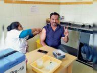 454 कर्मियों काे लगा टीका, काेविन एप से कई लाेगाें के नाम दाेबारा आए|होशंगाबाद,Hoshangabad - Dainik Bhaskar