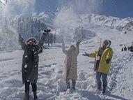 बर्फ की सफेदी में लिपटा कश्मीर, पिछले 10 साल में सबसे ज्यादा बर्फबारी, इसके बाद भी ज्यादातर टूरिस्ट प्लेस हाउसफुल|ओरिजिनल,DB Original - Dainik Bhaskar