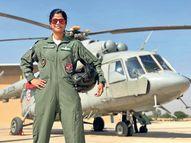 नागौर की स्वाति राजपथ पर फ्लाई पास्ट का नेतृत्व करने वाली पहली महिला पायलट|अजमेर,Ajmer - Dainik Bhaskar