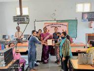 छात्र उत्सव के 1 लाख रुपए पूर्व सैनिकों के लिए दिए, राज्यपाल ने भेजा गर्ल्स कॉलेज को प्रशंसा पत्र|खंडवा,Khandwa - Dainik Bhaskar