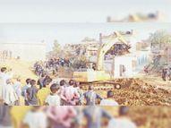 एक साल पहले दी थी समझाइश नहीं माने तो जेसीबी से तोड़े मकान|टीकमगढ़,Tikamgarh - Dainik Bhaskar