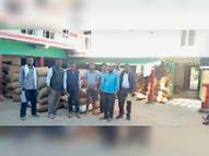 पोड़ी में प्रशासन की दबिश, व्यापारी के घर मिला 265 क्विंटल धान, 254 क्विंटल पहले बेच चुका|कोरबा,Korba - Dainik Bhaskar
