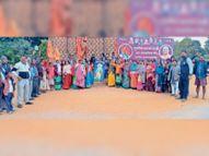 मंदिर निर्माण के लिए समिति ने सवा तीन लाख समर्पण राशि जमा कराई|भानुप्रतापपुर,Bhanupratap pur - Dainik Bhaskar