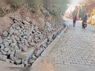कई कॉलोनियों व मोहल्लों से होकर निकलता है बरसाती नाला, कुछ माह पहले ही हुआ था निर्माण|पिंजौर,Pinjore - Dainik Bhaskar