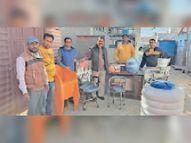 मिठड़ी बालिका स्कूल में अलमारी, कुर्सियों सहित अनेक सामान भेंट|नागौर,Nagaur - Dainik Bhaskar