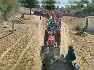 अखिल भारतीय किसान सभा के नेतृत्व में करीब 250 ट्रैक्टरों से किसानों ने 30 किलोमीटर तक रैली निकाली|सीकर,Sikar - Dainik Bhaskar