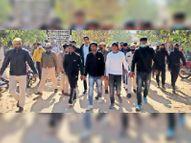 पपला फरारी केस में चार्जशीट पर बहस शुरू, कड़े पहरे में 19 आरोपियों को कोर्ट लाया गया|अलवर,Alwar - Dainik Bhaskar