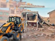 रणजीत क्लब सील कर प्रशासन ने किया अधिग्रहित, परिसर में बनी होटल भी तोड़ी|खंडवा,Khandwa - Dainik Bhaskar