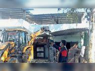 भूसा मंडी के पास 20 हजार वर्ग फीट से हटाया अतिक्रमण|बीना,Bina - Dainik Bhaskar