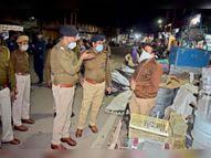 एसपी शहर में चार किमी पैदल घूमे, अतिक्रमण देख चेताया- आज समझा रहे हैं, नहीं हटाया ताे कार्रवाई|भीलवाड़ा,Bhilwara - Dainik Bhaskar