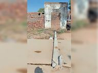 थड़ोली गांव में वाहन की टक्कर से बिजली पोल गिरा|सवाई माधोपुर,Sawai Madhopur - Dainik Bhaskar