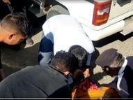 स्कूटर स्लिप होने से सड़क पर गिरी महिला को पीछे से आई बस ने कुचला, मौके पर ही तोड़ा दम|नागौर,Nagaur - Dainik Bhaskar