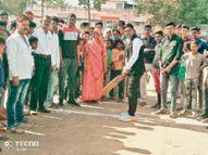 खेलों से हमारा शारीरिक विकास होता है: मांझी|डबरा,Dabra - Dainik Bhaskar
