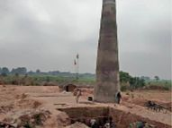 सबलगढ़ तहसील क्षेत्र में अवैध 12 ईट चिमनियां संचालित, अनुमति सिर्फ 4 की|मुरैना,Morena - Dainik Bhaskar