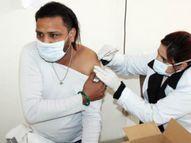 जिले के 7 अस्पतालों में 336 हेल्थ वर्करों को लगा कोविड का टीका, 5वें दिन 49% वैक्सीनेशन, बुधवार से 22 प्रतिशत कम|अमृतसर,Amritsar - Dainik Bhaskar