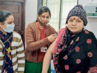 जिन्हें लगना थी वैक्सीन उन्होंने बंद किए मोबाइल फोन, रफ्तार बढ़ाने पुराने को लगवा दिया टीका|भिंड,Bhind - Dainik Bhaskar