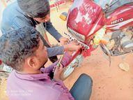 बाइक रोककर लिखवाए नंबर और 1400 रुपए जुर्माना वसूला|बस्तर,Bastar - Dainik Bhaskar