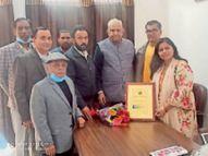 लायंस क्लब पदाधिकारियों ने किया चेयरपर्सन का अभिनंदन|रेवाड़ी,Rewari - Dainik Bhaskar