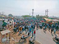 सड़क किनारे बस का इंतजार कर रहे भाई-बहन को ट्रक ने रौंदा, मौत|महू,Mhow - Dainik Bhaskar