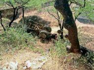 बाइक को बचाने में 15 फीट नीचे गिरी ट्रैक्टर ट्राॅली, ड्राइवर को आई खरोंच|रतलाम,Ratlam - Dainik Bhaskar