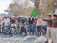 दुर्घटना में जान ही नहीं ठंड व कोविड-19 के संक्रमण से भी बचाता है हेलमेटः राय|भिंड,Bhind - Dainik Bhaskar