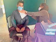 गुड़गांव में 45 बूथों पर 4001 स्वास्थ्य कर्मियों को लगाई गई वैक्सीन, टारगेट से 21 फीसदी लोग नहीं पहुंचे|गुड़गांव,Gurgaon - Dainik Bhaskar